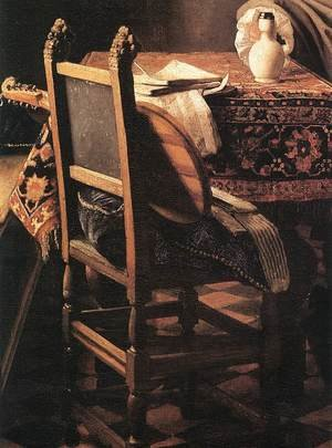 Reproduction oil paintings - Jan Vermeer Van Delft - A Lady Drinking and a Gentleman (detail-3) c. 1658