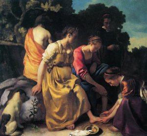 Reproduction oil paintings - Jan Vermeer Van Delft - Diana and her Companions 1655-56
