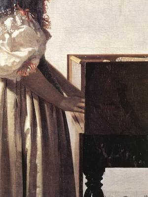 Reproduction oil paintings - Jan Vermeer Van Delft - Lady Standing at a Virginal (detail-2) c. 1670