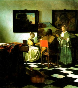Reproduction oil paintings - Jan Vermeer Van Delft - The Concert 1665-66