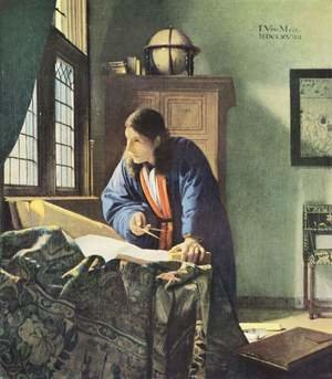 Reproduction oil paintings - Jan Vermeer Van Delft - The Geographer c. 1668