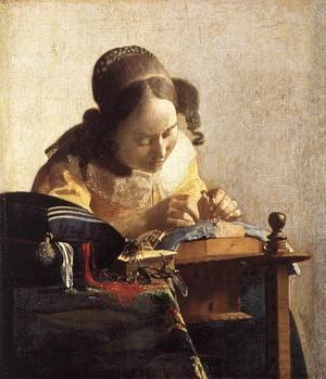 Reproduction oil paintings - Jan Vermeer Van Delft - The Lacemaker 1669-70