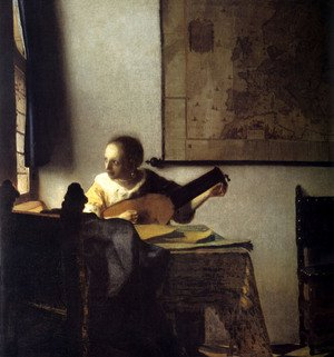 Reproduction oil paintings - Jan Vermeer Van Delft - Woman with a Lute near a Window c. 1663
