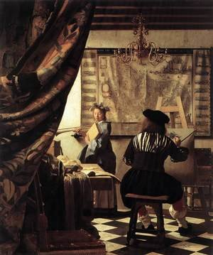 Reproduction oil paintings - Jan Vermeer Van Delft - The Artist's Studio 1665