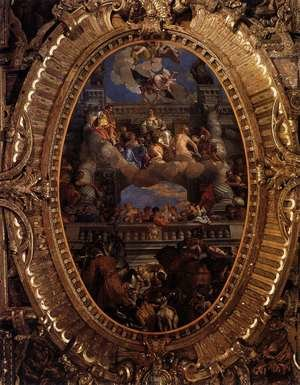 Mannerism painting reproductions: Apotheosis of Venice 1585