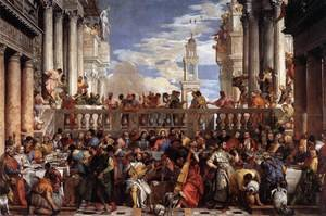 Mannerism painting reproductions: The Marriage at Cana 1563