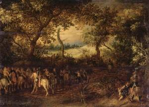 David Vinckboons reproductions - An Officer Preparing His Troops for an Ambush c. 1612