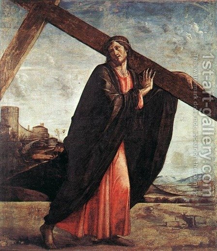 Christ Carrying the Cross by Alvise Vivarini - Reproduction Oil Painting