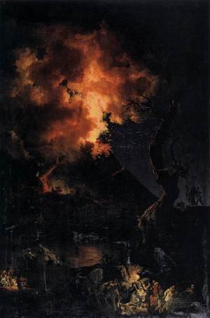 Pierre-Jacques Volaire reproductions - The Eruption of the Vesuvius 1767