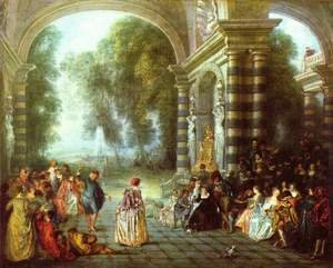Rococo painting reproductions: The Pleasures of the Ball 1717