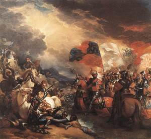 Reproduction oil paintings - Benjamin West - Edward III Crossing the Somme 1788