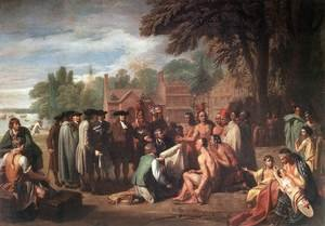 Reproduction oil paintings - Benjamin West - The Treaty of Penn with the Indians 1771-72