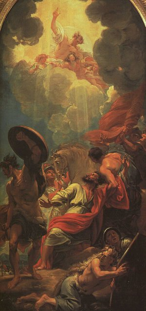 Reproduction oil paintings - Benjamin West - Central panel of a triptych (study for a window at St. Paul's Church, Birmingham)