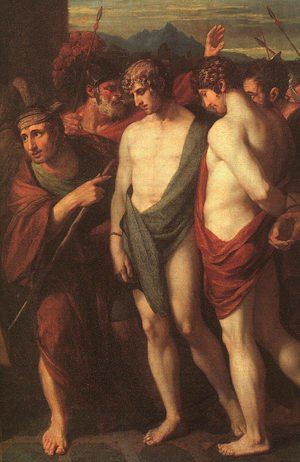 Reproduction oil paintings - Benjamin West - Pylades and Orestes Brought as Victims to Iphigenia (detail) 1766