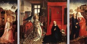 Famous paintings of Furniture: Annunciation Triptych c. 1440