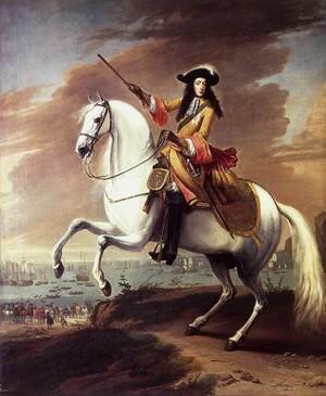 Famous paintings of Men: William III Landing at Brixham, Torbay 1688