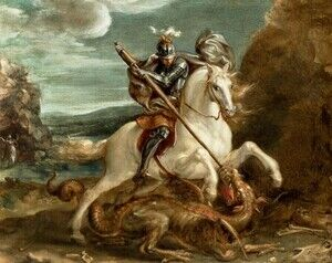 Mannerism painting reproductions: St. George slaying the dragon