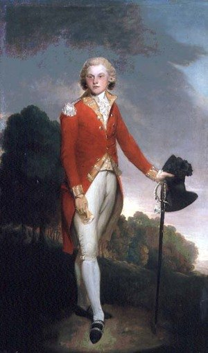 Lemuel-Francis Abbott reproductions - Portrait of Aubrey, Earl of Burford, wearing the uniform of a Captain in the 34th foot