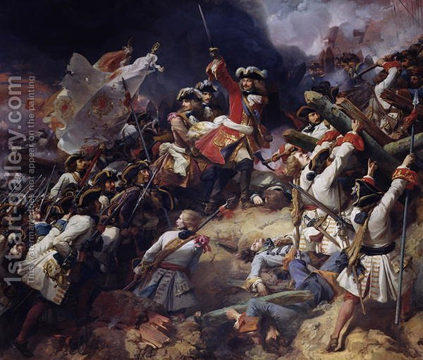 Huge version of Battle of Denain, 24th July 1712, 1839