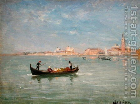 Venice by Adolphe Appian - Reproduction Oil Painting