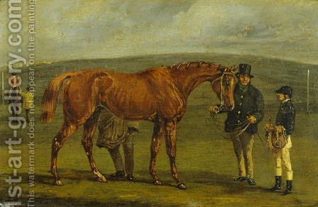 Preparing for a Race by Henry Thomas Alken - Reproduction Oil Painting