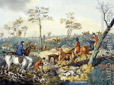 Drawing a Cover, from 'Foxhunting' by Henry Thomas Alken - Reproduction Oil Painting
