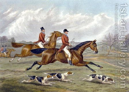 Full Cry, plate from 'The Right and The Wrong Sort', in Fores Hunting Sketches 1859 by Henry Thomas Alken - Reproduction Oil Painting
