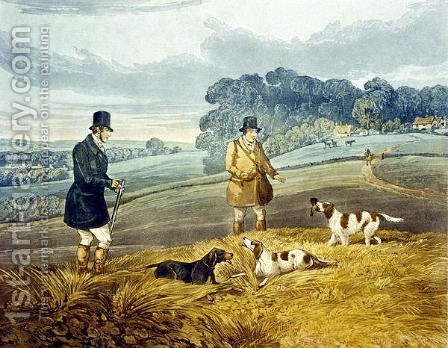 Retrieving, plate from 'Partridge Shooting' by Henry Thomas Alken - Reproduction Oil Painting
