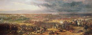 Romanticism painting reproductions: Battle of Waterloo 1815,  1843