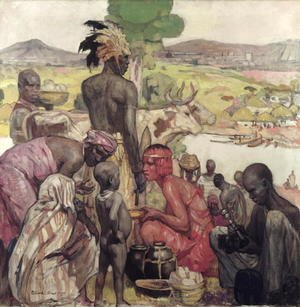 Modernism painting reproductions: Matadi, 1929