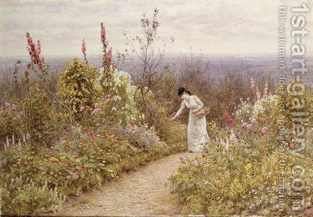 A Garden In October, Aldworth by Helen Mary Elizabeth Allingham, R.W.S. - Reproduction Oil Painting