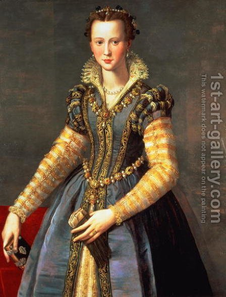 Marie de Medici by Alessandro Allori - Reproduction Oil Painting