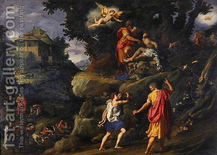 Sacrifice of Isaac  1601 by Alessandro Allori - Reproduction Oil Painting