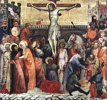 The Crucifixion by Altichiero da Zevio - Reproduction Oil Painting
