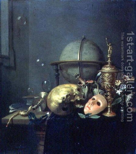 Still Life with a Mask by Hendrick Andriessen - Reproduction Oil Painting