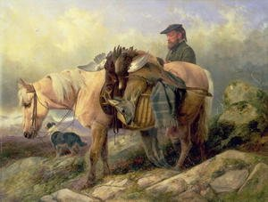 Romanticism painting reproductions: Returning from the Hill, 1868