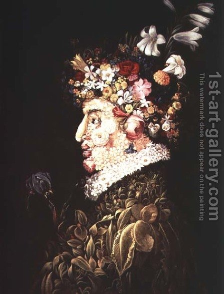 Spring (3) by Giuseppe Arcimboldo - Reproduction Oil Painting
