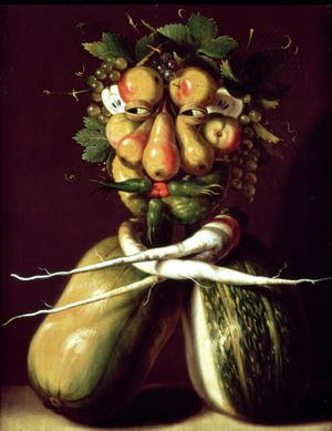 Famous paintings of Vegetables: Whimsical Portrait