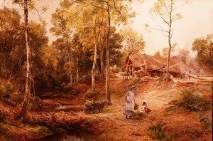 Realism painting reproductions: Autumn in a Gloucestershire Wood