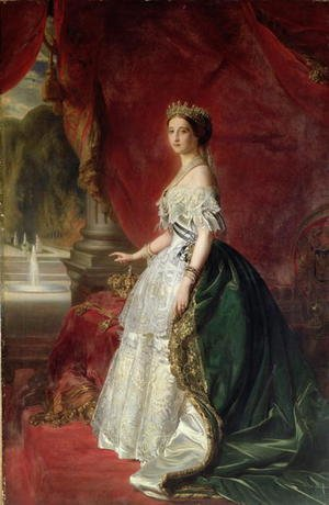 Reproduction oil paintings - Anonymous Artist - Portrait of Empress Eugenie of France