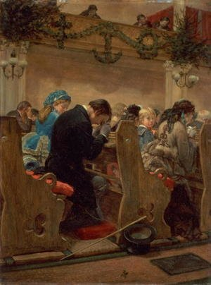 Famous paintings of Christmas: Christmas Prayers 1872