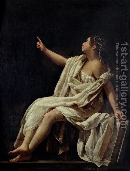 Polyhymnia, the Muse of Lyric Poetry 1620 by Giovanni Baglione - Reproduction Oil Painting
