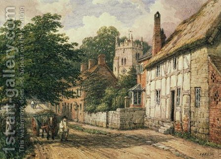 Cubbington, Warwickshire by Hendrikus van den Sande Bakhuyzen - Reproduction Oil Painting