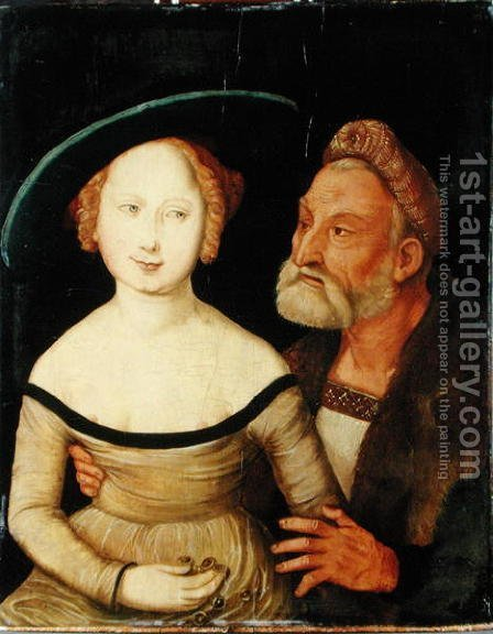 Mercenary Love by Hans Baldung  Grien - Reproduction Oil Painting