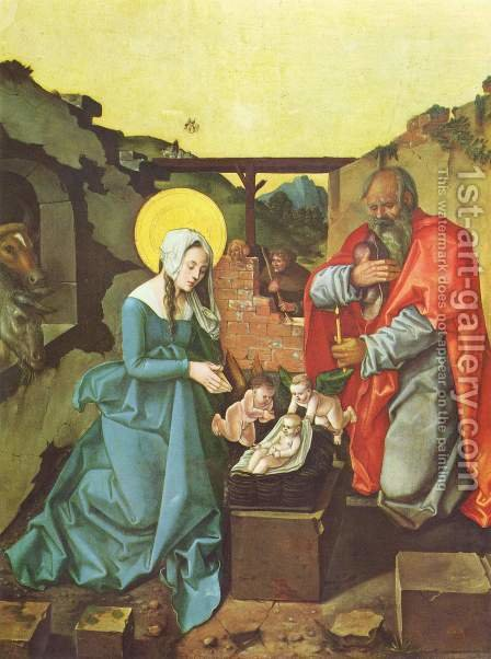 Nativity 1510 by Hans Baldung  Grien - Reproduction Oil Painting