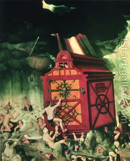 The Flood 1516 by Hans Baldung  Grien - Reproduction Oil Painting
