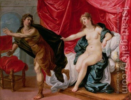 Joseph with Potiphar's wife by Hendrik van Balen, I - Reproduction Oil Painting