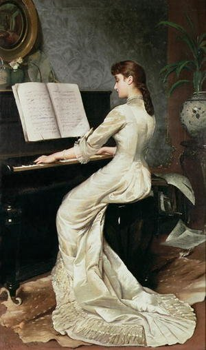Romanticism painting reproductions: A Song Without Words 1880
