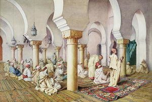 Realism painting reproductions: At Prayer in the Mosque 1884