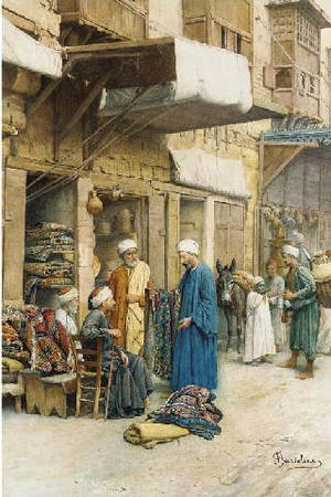 Realism painting reproductions: The carpet seller